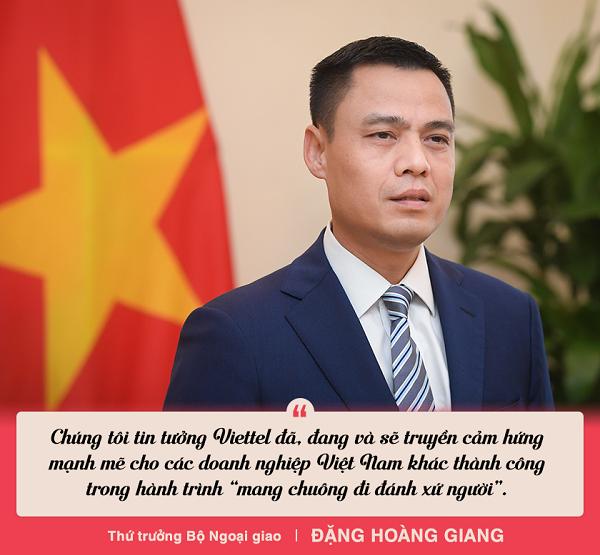 thu truong bo ngoai giao viettel khang dinh hinh mau ve mot doanh nghiep viet dung cam tien phong khao khat chinh phuc the gioi