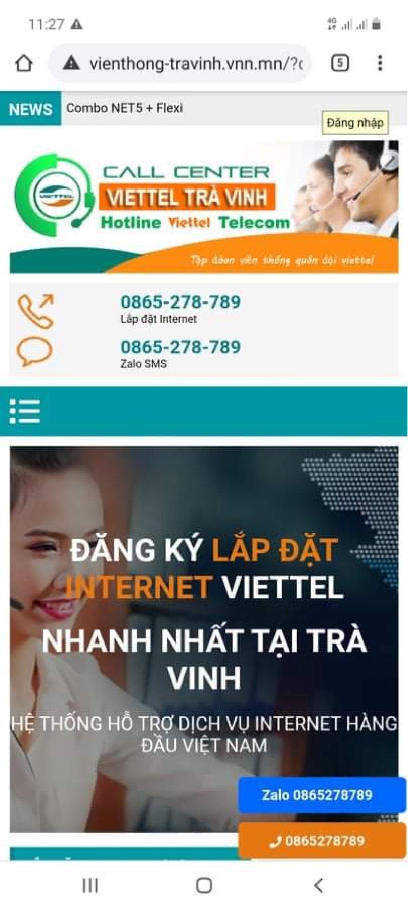 Hình ảnh trang web bán hàng Online