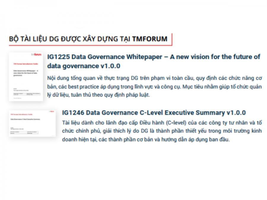 2 tài liệu do anh Vũ xây dựng đã được TMForum thông qua