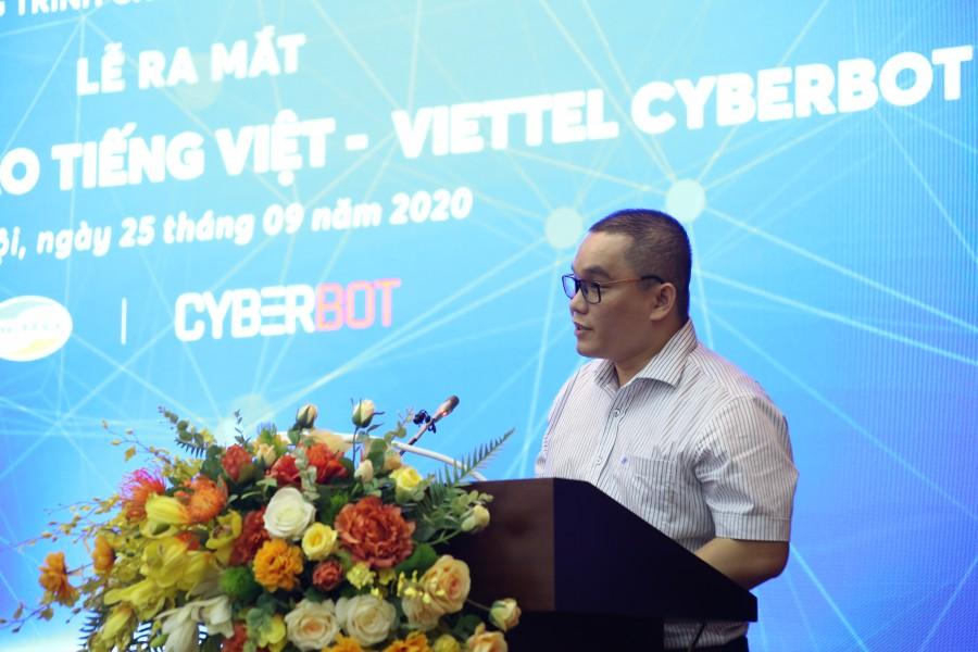 Anh Nguyễn Mạnh Quý- Giám đốc Trung tâm Không gian mạng Viettel phát biểu tại sự kiện